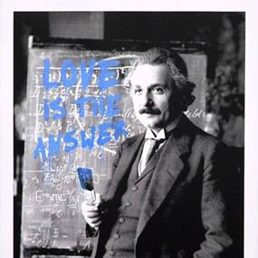 Happy Birthday Einstein! - LITA (Blue) by Mr Brainwash