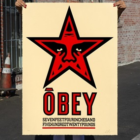 Obey Star (Large Format) by Shepard Fairey