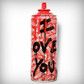 Can I Love You (Red) by Mr Brainwash
