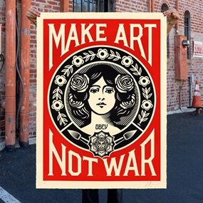 Peace Girl (Make Art Not War) (Large Format) by Shepard Fairey