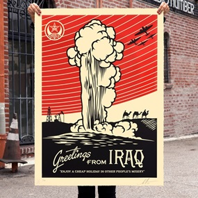 Greetings From Iraq (Large Format) by Shepard Fairey