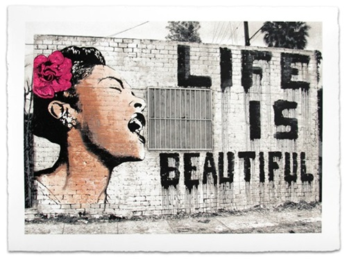 Billie Is Beautiful  by Mr Brainwash