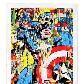 Captain America by Mr Brainwash