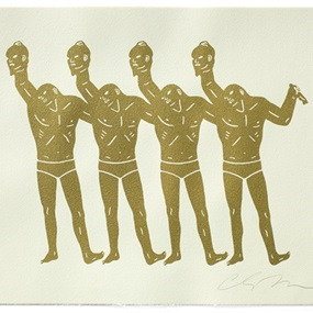 Paint The Town (Gold & White) by Cleon Peterson