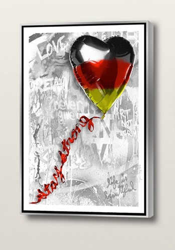 Stay Strong | Germany Edition (Canvas) by Mr Brainwash