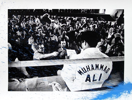 Showman Ali (Blue) by Mr Brainwash