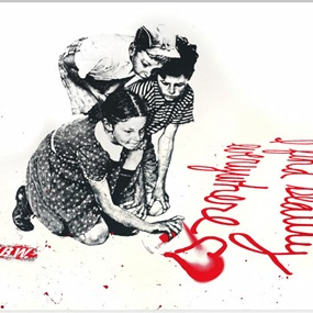 I Find Beauty Everywhere (Red) by Mr Brainwash