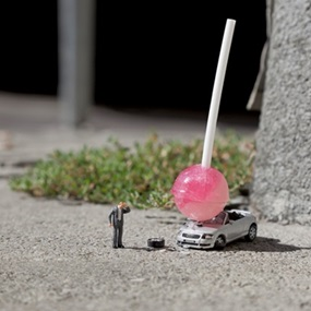 Damn Kids (Small) by Slinkachu