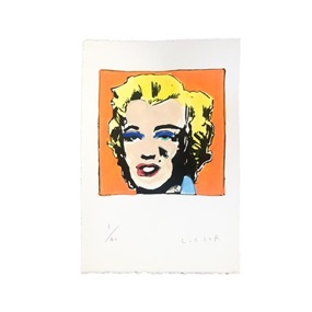 Untitled From Marilyn Monroe (1967) / Homage To Andy Warhol (Orange) by Anthony Lister