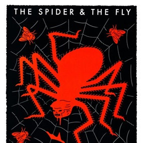The Spider & The Fly (Red & Black) by Cleon Peterson