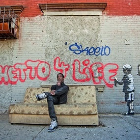 Banksy Wall In NY (Ghetto 4 Life) (First Edition) by Martha Cooper