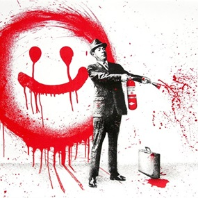 Spray Happiness (Red) by Mr Brainwash