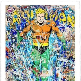 Aquaman (Hand-Finished) by Mr Brainwash