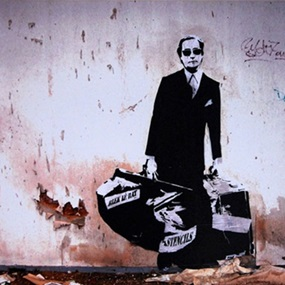 Getting Through The Walls by Blek Le Rat
