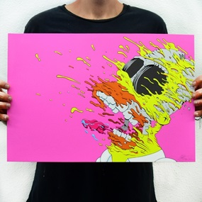 Deconstructed Homer Print (2020 Pink Cocaine Edition) by Matt Gondek