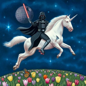 DV Unicorn (Canvas Print) by Alex Gross