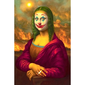 Mona Lisa Joker (Canvas Print) by Alex Gross