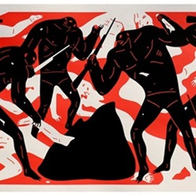 Burning The Dead (Red) by Cleon Peterson