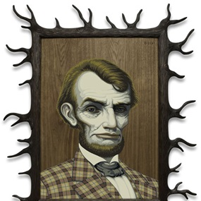 Wood Lincoln by Mark Ryden