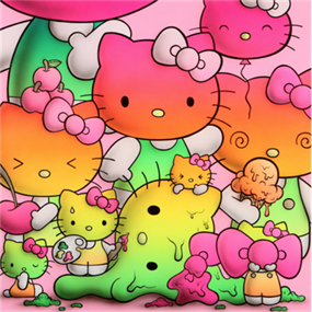 Rainbow Kitty Harmony by Buffmonster