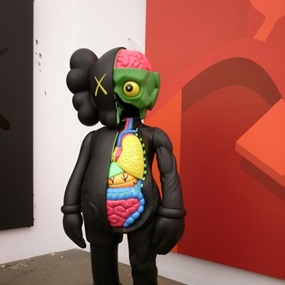 4 Foot Dissected Companion (Black) by Kaws