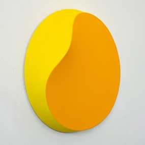 Melted Circle (Yellow) by Jan Kalab