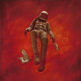 Red Cosmonaut by Jeremy Geddes