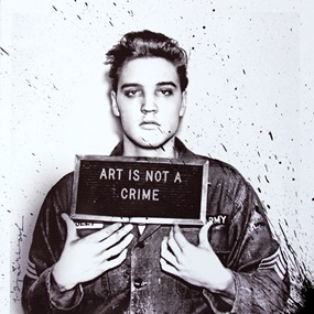 Happy Birthday Elvis! – Jailhouse Pop (Small) (Black Splash) by Mr Brainwash
