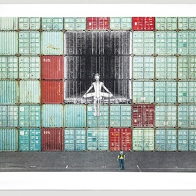 In The Container Wall, Le Havre, France, 2014 by JR