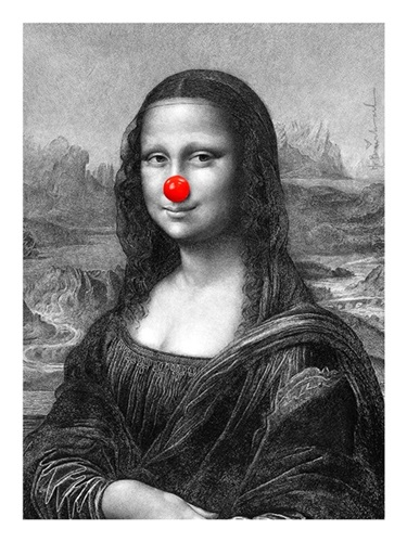 Mona, Keep Smiling  by Mr Brainwash