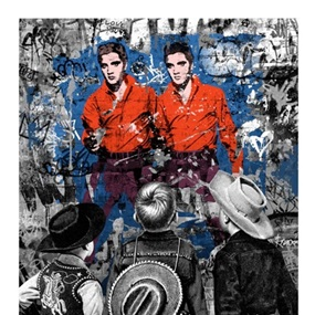 Playing Cowboy by Mr Brainwash