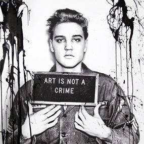Happy Birthday Elvis! – Jailhouse Pop (Black Drip) by Mr Brainwash