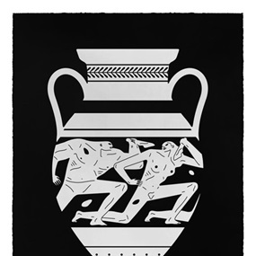End Of Empire, Amphora (Black) by Cleon Peterson