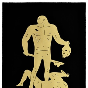 Judgment (Black & Gold) by Cleon Peterson