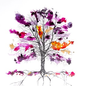 Copper Beech Web (Purple & Pink) by Rob Wass