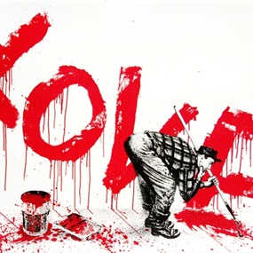 All You Need Is (Red) by Mr Brainwash