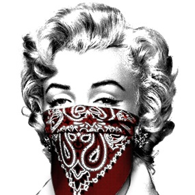 Stay Safe (Red) by Mr Brainwash