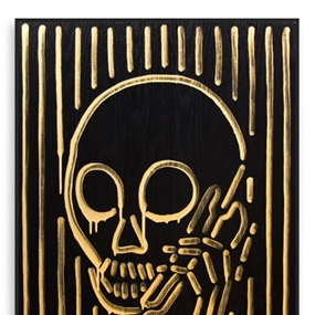 Skullphone Neon Painting (Gold On Black) by Skullphone