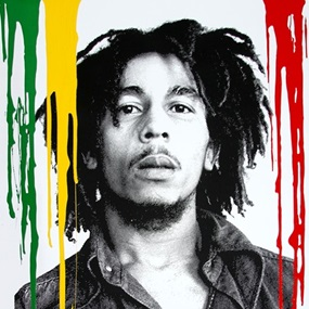 Happy Birthday Bob Marley - Buffalo Soldier (Multi-Colour Drips) by Mr Brainwash