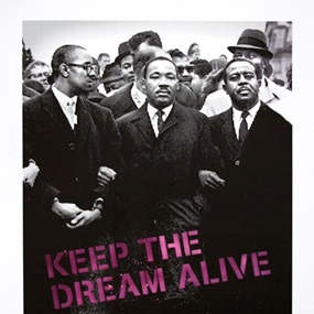 Keep The Dream Alive (Pink) by Mr Brainwash