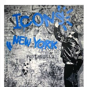 The Wall (Blue) by Mr Brainwash
