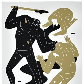 The Crawler (Gold) by Cleon Peterson