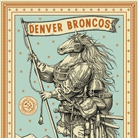 "Denver Broncos ""Opposable Thumbs"" by Ravi Zupa"