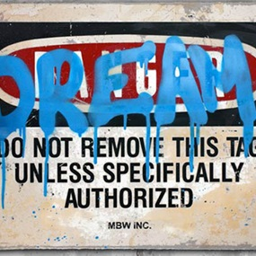 Dream (Blue) by Mr Brainwash