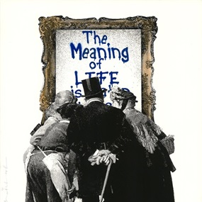 The Meaning Of Life (Blue) by Mr Brainwash