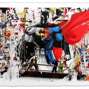 Batman Vs Superman by Mr Brainwash