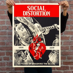 Social Distortion 40 by Shepard Fairey