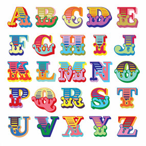 Circus Alphabet (White) by Eine
