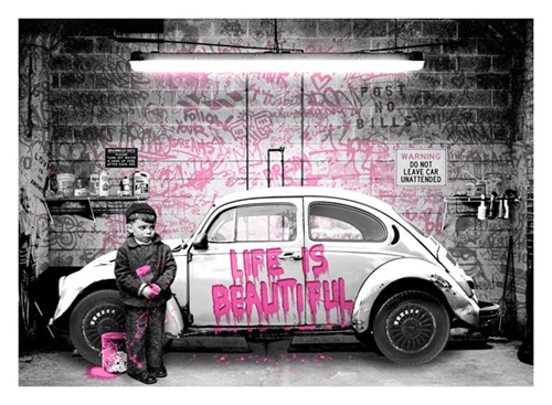 New Paint Job (Pink) by Mr Brainwash