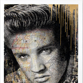 King Of Rock (Gold) by Mr Brainwash